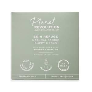 Revolution Beauty Planet Revolution Skin Refuge Soothing & Hydrating Biodegradable Aloe Fabric Sheet Masks 5 Pk