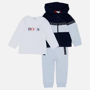 Hugo Boss Baby T-Shirt, Joggers & Hoodie Set - Pale Blue