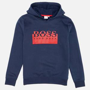 Hugo Boss Kids Hooded Sweatshirt - Navy