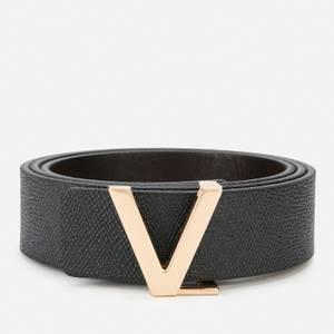 Valentino Bags Men's Ginkgo Plaque Buckle Belt - Black