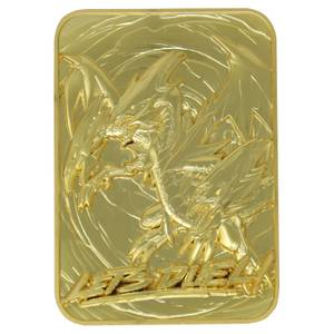 Fanattik Yu-Gi-Oh! Blue Eyes Ultimate Dragon 24K Gold Plated Limited Edition Collectible Metal Card