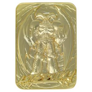 Fanattik Yu-Gi-Oh! Summoned Skull 24K Gold Plated Limited Edition Collectible Metal Card