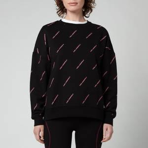 KARL LAGERFELD Women's All Over Logo Sweatshirt - Black