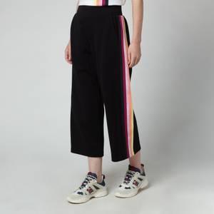 KARL LAGERFELD Women's Double Jersey Tape Sweatpants - Black