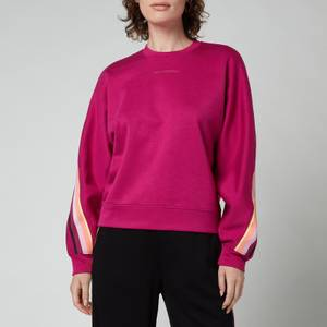 KARL LAGERFELD Women's Double Jersey Tape Sweatshirt - Fuschia