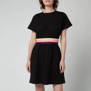 KARL LAGERFELD Women's Logo Tape Jersey Dress - Black
