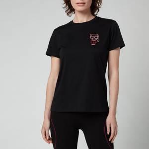 KARL LAGERFELD Women's Organic Mini Karl Ikonik Outline T-Shirt - Black