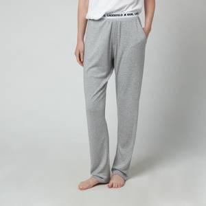 KARL LAGERFELD Women's Logo Pyjama Trousers - Grey