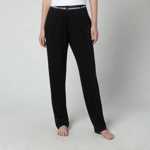 KARL LAGERFELD Women's Logo Pyjama Trousers - Black