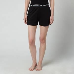 KARL LAGERFELD Women's Logo Pyjama Shorts - Black