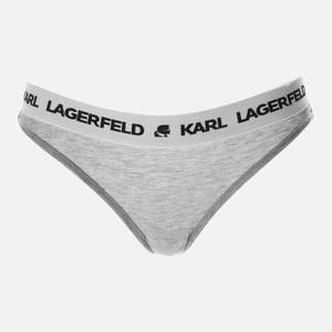 KARL LAGERFELD Women's Logo Brief - Grey