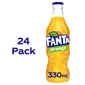 Fanta Orange 24 x 330ml Glass Bottles