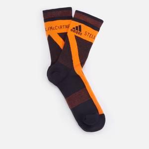 adidas by Stella McCartney Women's Asmc Crew Socks - Black/Apsior/Black
