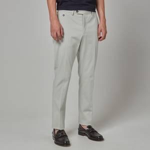 Salvatore Ferragamo Men's Gabardine Cotton Trousers - Gull Grey