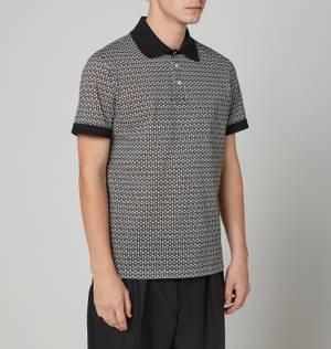 Salvatore Ferragamo Men's Gancini Polo Shirt - Off White/Black