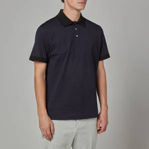 Salvatore Ferragamo Men's Gancini Polo Shirt - Pacific Ocean Blue/Black