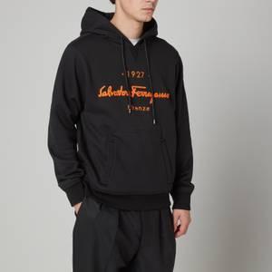 Salvatore Ferragamo Men's 1927 Logo Felpa Sweatshirt - Black