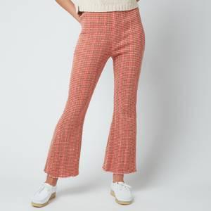 Free People Women's Fine Line Slim Pants - Rust Combo