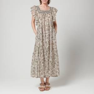 Free People Women's Bonita Printed Midi Dress - Tea Combo