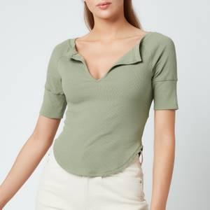 Free People Women's Blake Baby T-Shirt - Green Tea