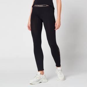 Emporio Armani Loungewear Women's Iconic Logoband Leggings - Black
