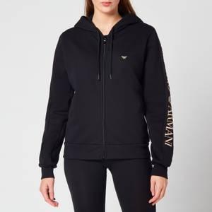 Emporio Armani Loungewear Women's Iconic Terry Full Zip Jacket - Black