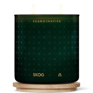 SKANDINAVISK Scented 2 Wick Candle - Clear Glass - Skog - 400g