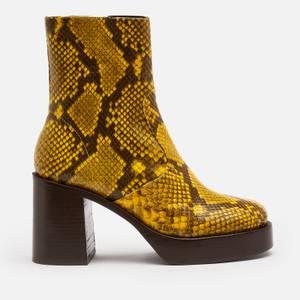 Simon Miller Women's Low Raid Leather Platform Boots - Burn Out Yellow