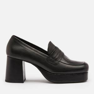 Simon Miller Women's Hustler Leather Platform Loafers - Black