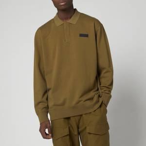 EDWIN Men's Polo Sweatshirt - Uniform Green