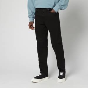 EDWIN Men's Ed45 Ayano Black Denim Jeans - Black Overdyed