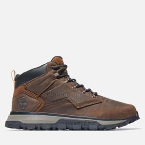 Timberland Men's Treeline Mid Waterproof Leather Hiking Boots - Dark Brown