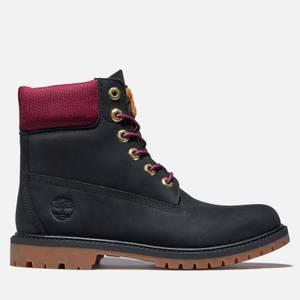 Timberland Women's 6 Inch Heritage Letterman Waterproof Boots - Black