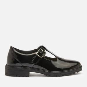 Clarks Dempster Bar Youth School Shoes - Black Patent