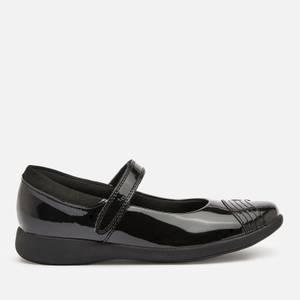 Clarks Etch Beam Kids' School Shoes - Black Patent