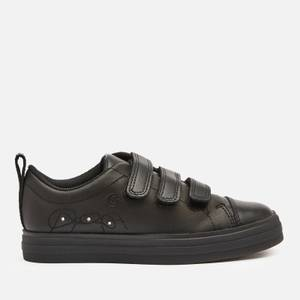 Clarks Flare Bright Kids' School Shoes - Black Leather
