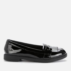Clarks Scala Bright Kids' School Shoes - Black Patent