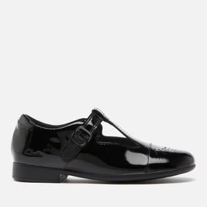 Clarks Scala Spirit Kids' School Shoes - Black Patent
