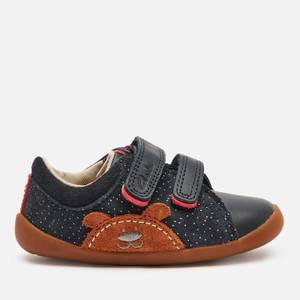 Clarks Roamer Bear Toddler Everyday Shoes - Navy Suede