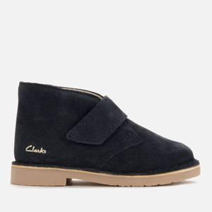 Clarks Baby Desert Boots - Navy Suede