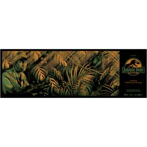 Jurassic Park Clever Girl Screen Print - 36 x 12 inch - By Nos4a2 Design