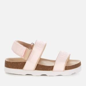 Kenzo Kids' Pink Logo Strap Sandals