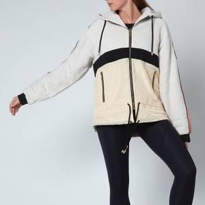 P.E Nation Women's Man Down Jacket- Fleece - Grey Light Gryl