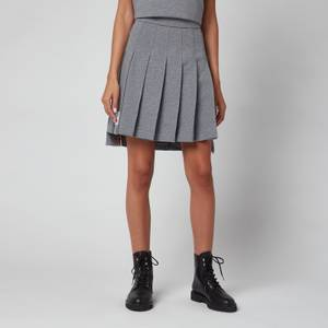 Thom Browne Women's Mini Pleated Skirt - Med Grey