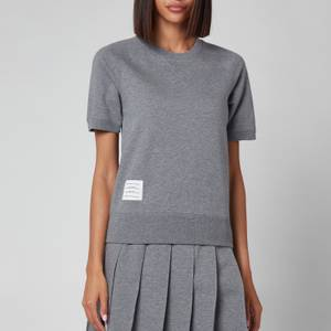 Thom Browne Women's Short Sleeve Sweatshirt Top - Grey