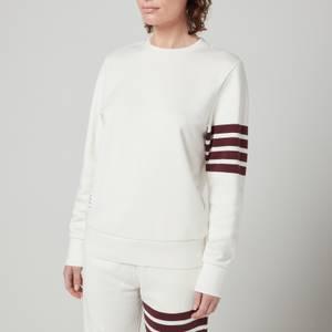 Thom Browne Women's 4-bar Sweatshirt In Classic Loopback - White