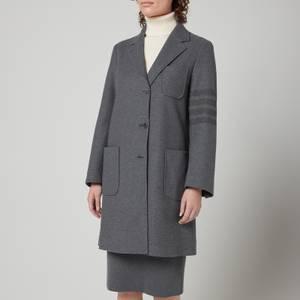 Thom Browne Women's Sack Over Coat - Med Grey