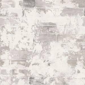 Organic Textures Brick Grey Wallpaper Sample