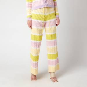 Olivia Rubin Women's Isobel Cable Knit Wide Leg Trousers - Angel Cake Stripe
