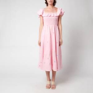 Olivia Rubin Women's Talia Embroidered Cotton Midi Dress - Pink
